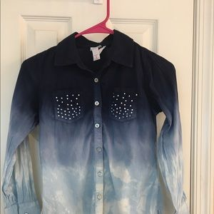 Justice Girl Button Down Shirt